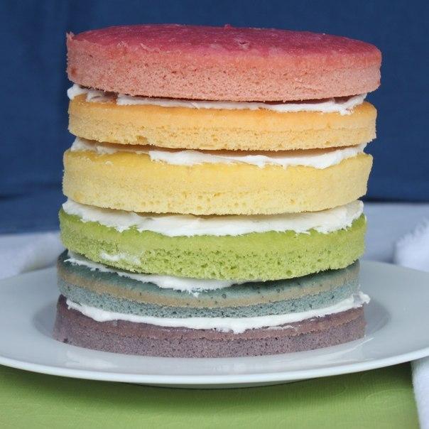 Разноцветный торт рецепт пошагово в домашних условиях